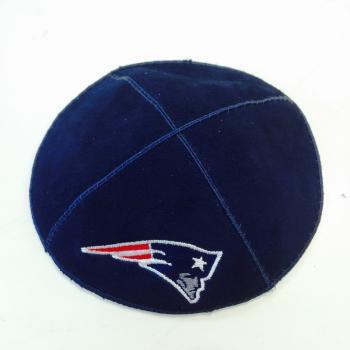 New England Patriots Kippah - Suede