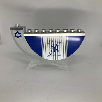 New York Yankees Hanukkah Menorah