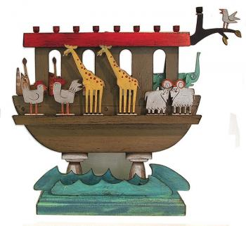 Noah's Ark Children's Chanukah Menorah