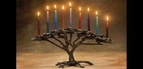 Tree of Life menorah by Scott Nelles