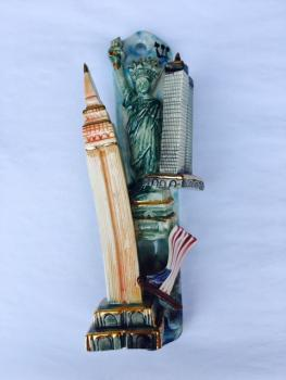 NYC Mezuzah - Painted Porcelain