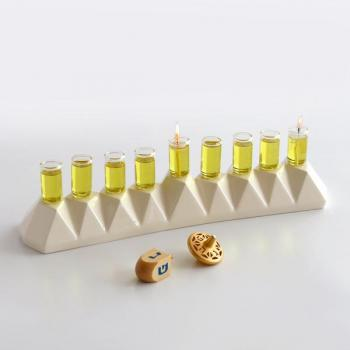Oil Hanukkah Menorah