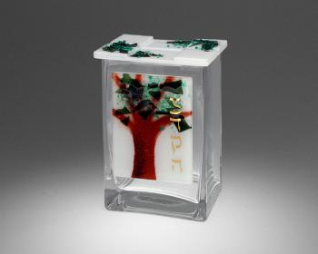 Tree of Life Tzedakah Box - Glass