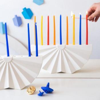 Origami Hanukkah Menorah