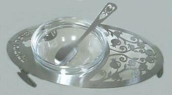 Laser Cut Oval Honey Dish
