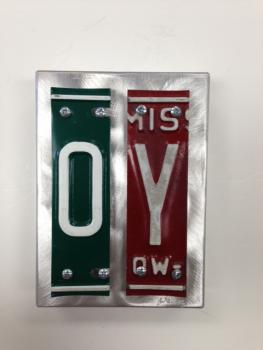 Oy Letter Art - Metal