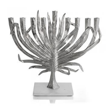 Palm Menorah - Nickelplate