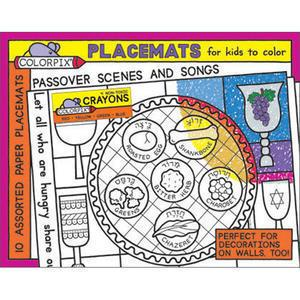 Passover Coloring Placemats - Passover Activities