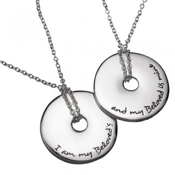 I Am My Beloved's Necklace - Sterling Silver