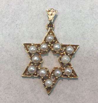 Pearl Star of David Pendant