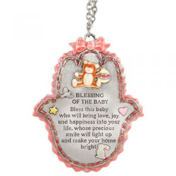 Pink Baby Blessing - Pewter