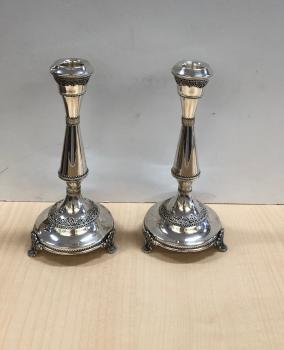 Sterling Silver Candle Holders With Filigree