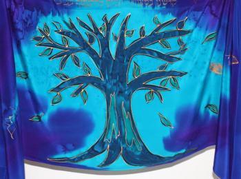 The Tree of Life Tallit Set - Blues PST-04