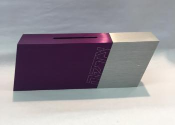 Modern Colorful Tzedakah Box - Aluminum