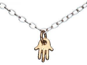 Mini Hamsa Necklace - Silver and Gold Plated