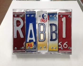 Rabbi Letter Art - Metal