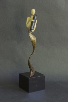 Spirit of Torah Sculpture by Karen Coburn - Bronze