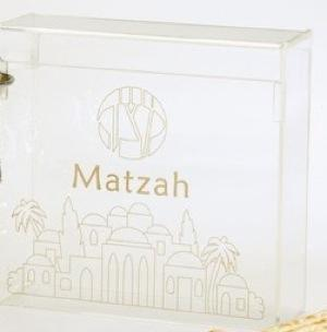 Flip Top Matzah Box - Acrylic