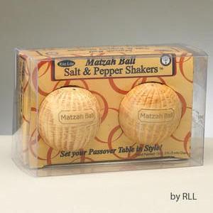 Matzah Ball Salt and Pepper Shakers - Passover Gifts