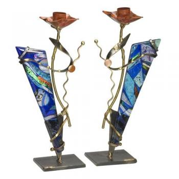 Candlesticks Blue Triangles