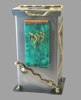 Tzedakah Box Rectangle Extra Large Green