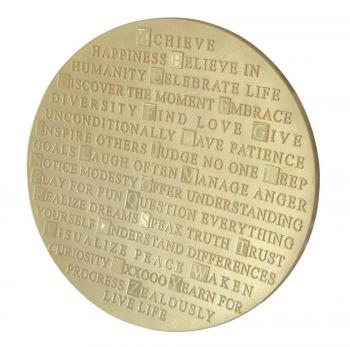 ABC of Life Platter in Gold, 14