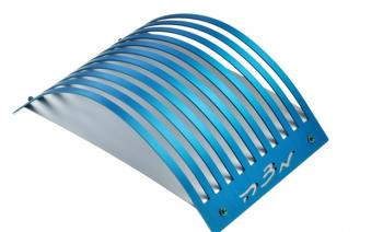 Blue Lines Matzah Plate - Anodized Aluminum