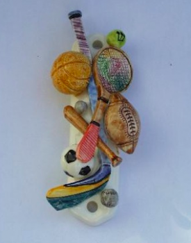 Sports Mezuzah - Painted Porcelain