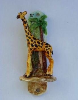 Giraffe Mezuzah - Painted Porcelain