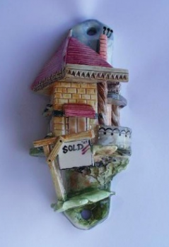 Realtor Mezuzah - Painted Porcelain