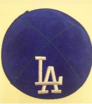 Dodgers Kippah - Suede