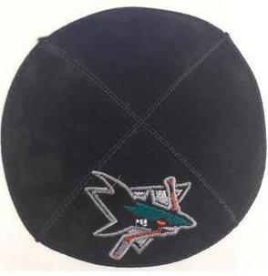 San Jose Sharks Kippah - Suede