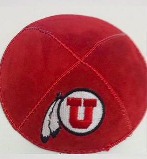 University of Utah Kippah - Suede