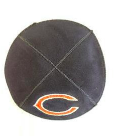 Chicago Bears Kippah - Suede