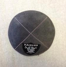 Raiders Kippah - Suede