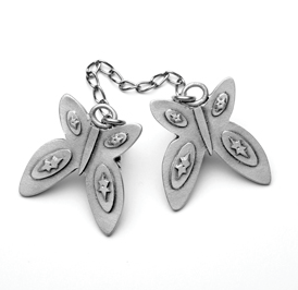 Butterfly Talit Clip - Pewter