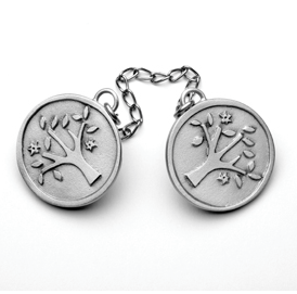 Tree of Life Talit Clip - Pewter
