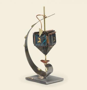 Simple Dreidel - Glass, Steel, and Copper