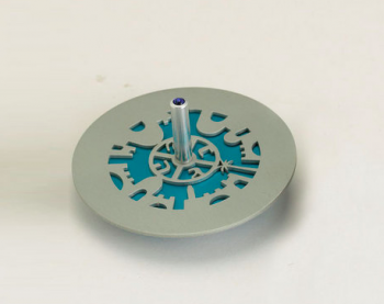 Cut-Out Jerusalem Dreidel - Anodized Aluminum