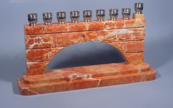 Paamon Menorah - Jerusalem Stone