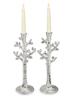 Tree of Life Candle Holders - Nickelplate