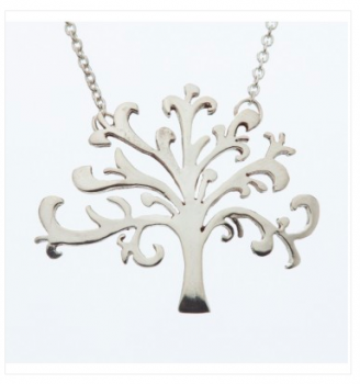 Shin/Tree of Life Pendant - Silver