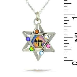 Star & Chai (Life) Necklace - Stainless Steel