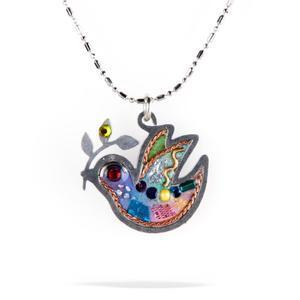 Petite Dove of Peace Necklace - Metal
