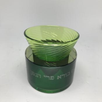 Modern Green Kiddush Goblet