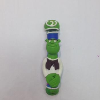 Shrek Mezuzah - Fimo Clay