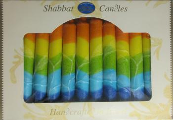 Safed Shabbat and Holiday Candles Rainbow