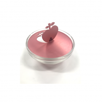 Small Apple Honey Dish Raspberry