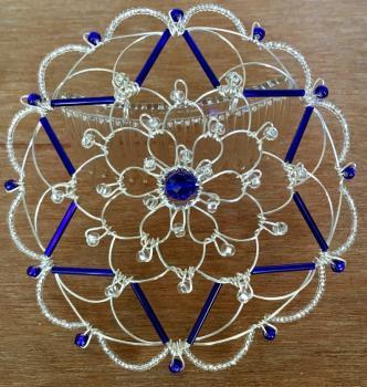 Silver Cobalt Star Wire Kepa