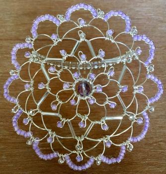 Lavendar Silver Star Wire Kepa